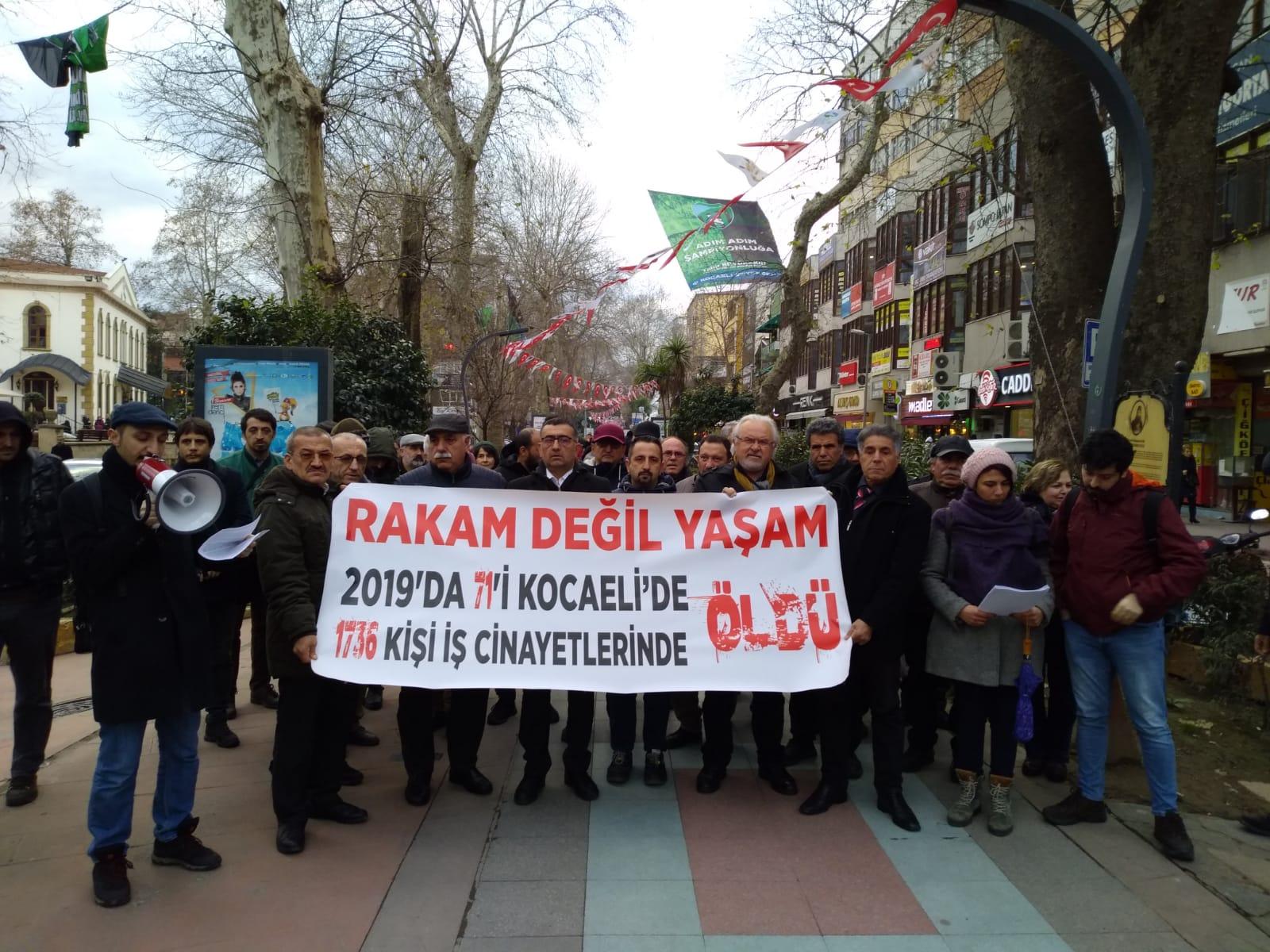 Kocaeli İSİG Meclisi: 2019'da Kocaeli'de 71 işçi yaşamını yitirdi