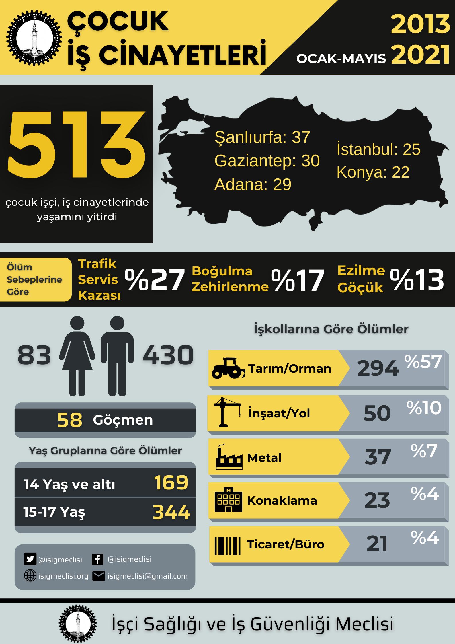 Çocuk İşçilik Yasaklansın! Son sekiz yılda en az 513 çocuk çalışırken hayatını kaybetti